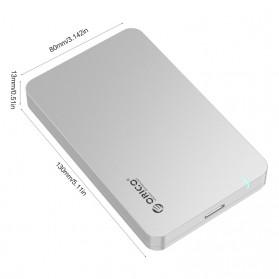 Orico 1-Bay 2.5 SATA External HDD Enclosure with USB 3.0 - 2569S3 - Silver - 3