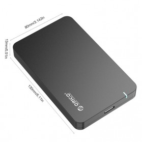 Orico 1-Bay 2.5 SATA External HDD Enclosure with USB 3.0 - 2569S3 - Black - 4