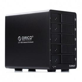 Orico 5-Bay 3.5 SATA HDD Enclosure - 9558U3 - Black - 1