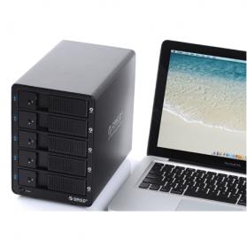 Orico 5-Bay 3.5 SATA HDD Enclosure - 9558U3 - Black - 4
