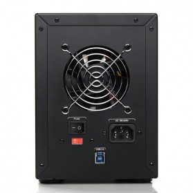 Orico 4-Bay 3.5 SATA HDD RAID Enclosure - 9948RU3 - Black - 3