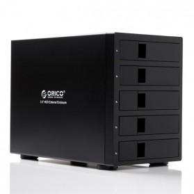 Orico 5-Bay 3.5 SATA HDD RAID Enclosure - 9958RU3 - Black - 1