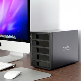 Orico 5-Bay 3.5 SATA HDD RAID Enclosure - 9958RU3 - Black - 4