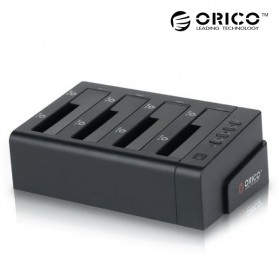 Orico 4-Bay 3.5 SATA USB3.0 HDD / SSD Docking Station - 6648US3-C-BK - Black