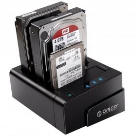 Orico 4-Bay 3.5 SATA USB3.0 HDD / SSD Docking Station - 6648US3-C-BK - Black - 3