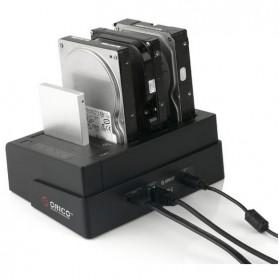 Orico 4-Bay 3.5 SATA USB3.0 HDD / SSD Docking Station - 6648US3-C-BK - Black - 4