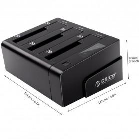 Orico 4-Bay 3.5 SATA USB3.0 HDD / SSD Docking Station - 6648US3-C-BK - Black - 9