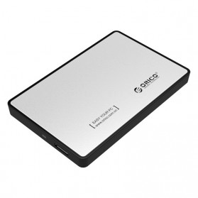 Orico 1-Bay 2.5 Inch External HDD Enclosure Sata 2 USB 3.0 - 2588US3-V1 - Silver