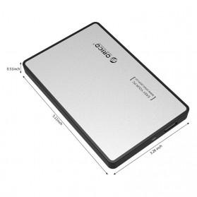 Orico 1-Bay 2.5 Inch External HDD Enclosure Sata 2 USB 3.0 - 2588US3-V1 - Silver - 4