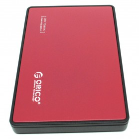 Orico 1-Bay 2.5 Inch External HDD Enclosure Sata 2 USB 3.0 - 2588US3-V1 - Red - 2