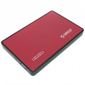Orico 1-Bay 2.5 Inch External HDD Enclosure Sata 2 USB 3.0 - 2588US3-V1 - Red - 3