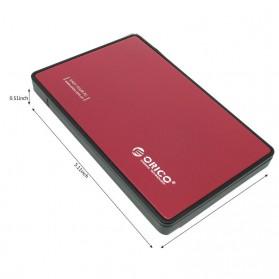Orico 1-Bay 2.5 Inch External HDD Enclosure Sata 2 USB 3.0 - 2588US3-V1 - Red - 4