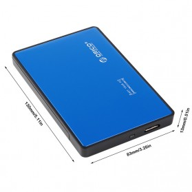 Orico 1-Bay 2.5 Inch External HDD Enclosure Sata 2 USB 3.0 - 2588US3-V1 - Blue - 3