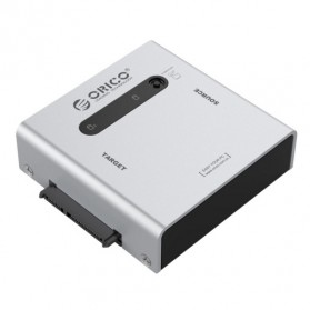 Orico Sata to USB 3.0 e-SATA HDD Duplicator Enclosure - 2012US3 - Silver - 1