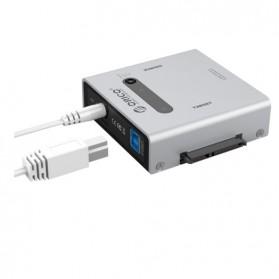 Orico Sata to USB 3.0 e-SATA HDD Duplicator Enclosure - 2012US3 - Silver - 2