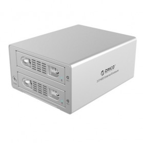 Orico Aluminium 3.5 inch SATA USB3.0 & eSATA External Multi Bay HDD Enclosure with Raid Function - 3529RUS3 - Silver