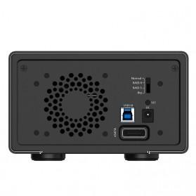 Orico Aluminium 3.5 inch SATA USB3.0 & eSATA External Multi Bay HDD Enclosure with Raid Function - 3529RUS3 - Black - 3