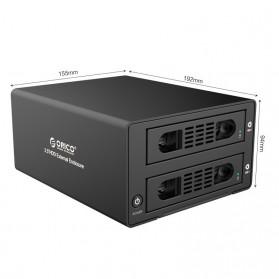 Orico Aluminium 3.5 inch SATA USB3.0 & eSATA External Multi Bay HDD Enclosure with Raid Function - 3529RUS3 - Black - 7