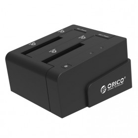 ORICO 2.5 & 3.5 inch SATA2 USB 3.0 1 to 1 Clone External Hard Drive Dock - 6628US3-C - Black - 1