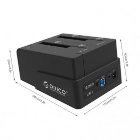 ORICO 2.5 & 3.5 inch SATA2 USB 3.0 1 to 1 Clone External Hard Drive Dock - 6628US3-C - Black - 2