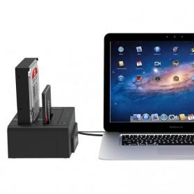 ORICO 2.5 & 3.5 inch SATA2 USB 3.0 1 to 1 Clone External Hard Drive Dock - 6628US3-C - Black - 3