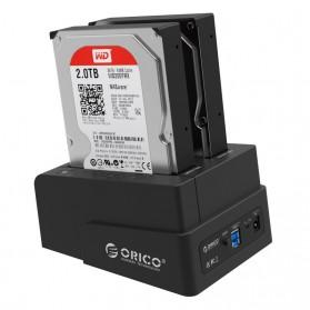 ORICO 2.5 & 3.5 inch SATA2 USB 3.0 1 to 1 Clone External Hard Drive Dock - 6628US3-C - Black - 5