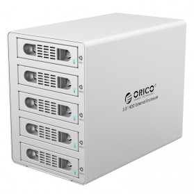 Orico 5-Bay 3.5 SATA HDD RAID Enclosure - 3559RUS3-BK - Silver
