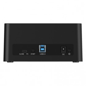 Orico USB 3.0 2-bay 2.5/3.5 SATA II HDD Docking Station - 6629US3-C-V1 - Black - 4