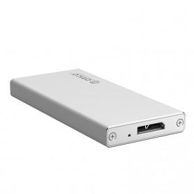 Orico mSATA to USB 3.0 Micro B SSD Enclosure Adapter Case - MSA-U3 - Silver - 1