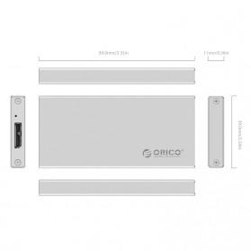 Orico mSATA to USB 3.0 Micro B SSD Enclosure Adapter Case - MSA-U3 - Silver - 4