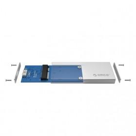 Orico mSATA to USB 3.0 Micro B SSD Enclosure Adapter Case - MSA-U3 - Silver - 5