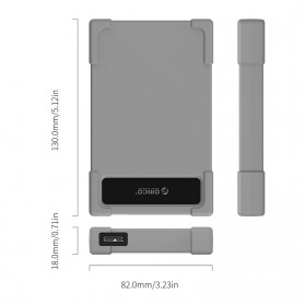 Orico 2.5 HDD Enclosure USB 3.0 - 28UTS-U3 - Gray - 4