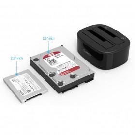 Orico HDD Docking 2 Bay USB 3.0 - 6228US3 - Black - 3
