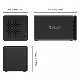 Orico Docking HDD 3.5 Inch 4 Bay USB Type C with Raid Function - NS400RC3 - Black - 4