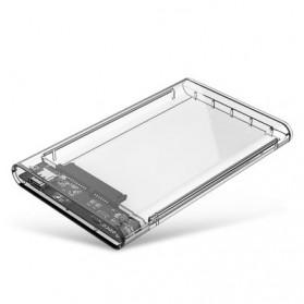 Orico Hard Drive Enclosure 2.5 Inch USB 3.1 Type C - 2139C3 - Transparent - 1