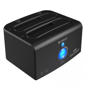 Orico HDD Docking 2 Bay USB 3.0 & eSATA - 8628SUS3-C - Black