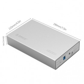 Orico 3.5 HDD Enclosure USB 3.0 - 3518S3 - Gray - 5