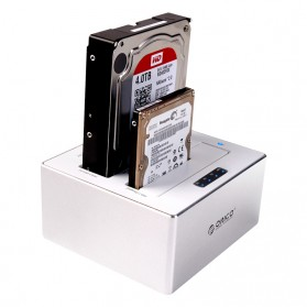 Orico HDD SSD Dual Bay Docking Station 2.5/3.5 Inch USB3.0 - 6828US3-C - White