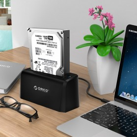 Orico SuperSpeed HDD SSD Docking Station 2.5/3.5 Inch USB3.0 - 6519US3 - Black - 4