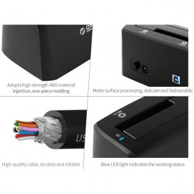 Orico SuperSpeed HDD SSD Docking Station 2.5/3.5 Inch USB3.0 - 6519US3 - Black - 5