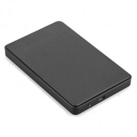 Casing Harddisk 1-Bay 2.5 HDD Enclosure USB 2.0 with HDD 500GB - Black