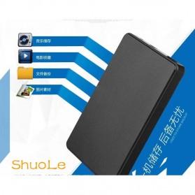 Casing Harddisk 1-Bay 2.5 HDD Enclosure USB 2.0 with HDD 500GB - Black - 4