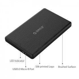ORICO 2.5 inch USB 3.0 HDD Enclosure - 2578U3 - Black - 4