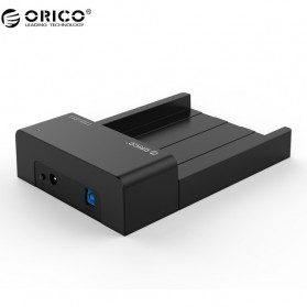 Orico 2.5/3.5 Inch Horizontal Mobile Hard Disk Seat USB 3.0 - 6518US3-V2 - Black - 1