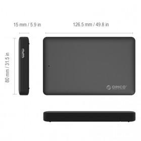 Orico HDD Enclosure 2.5 inch USB 3.0 - 2577U3 - Black - 5