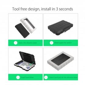 Orico Three-proofing HDD Enclosure 2.5 inch USB Type C  - 2539C3 - Black - 5