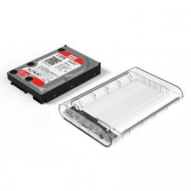 Orico Hard Drive Enclosure 3.5 inch USB 3.0 - 3139U3 - Transparent - 2