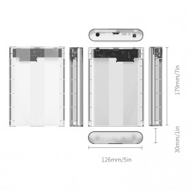 Orico Hard Drive Enclosure 3.5 inch USB 3.0 - 3139U3 - Transparent - 4