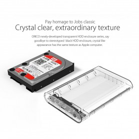Orico Hard Drive Enclosure 3.5 inch USB 3.0 - 3139U3 - Transparent - 6