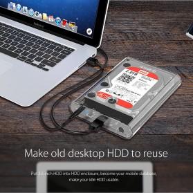 Orico Hard Drive Enclosure 3.5 inch USB 3.0 - 3139U3 - Transparent - 8